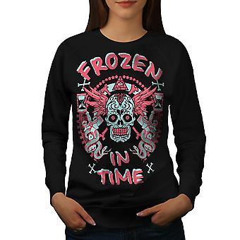 Eingefroren In der Zeit toten Frauen BlackSweatshirt | Wellcoda