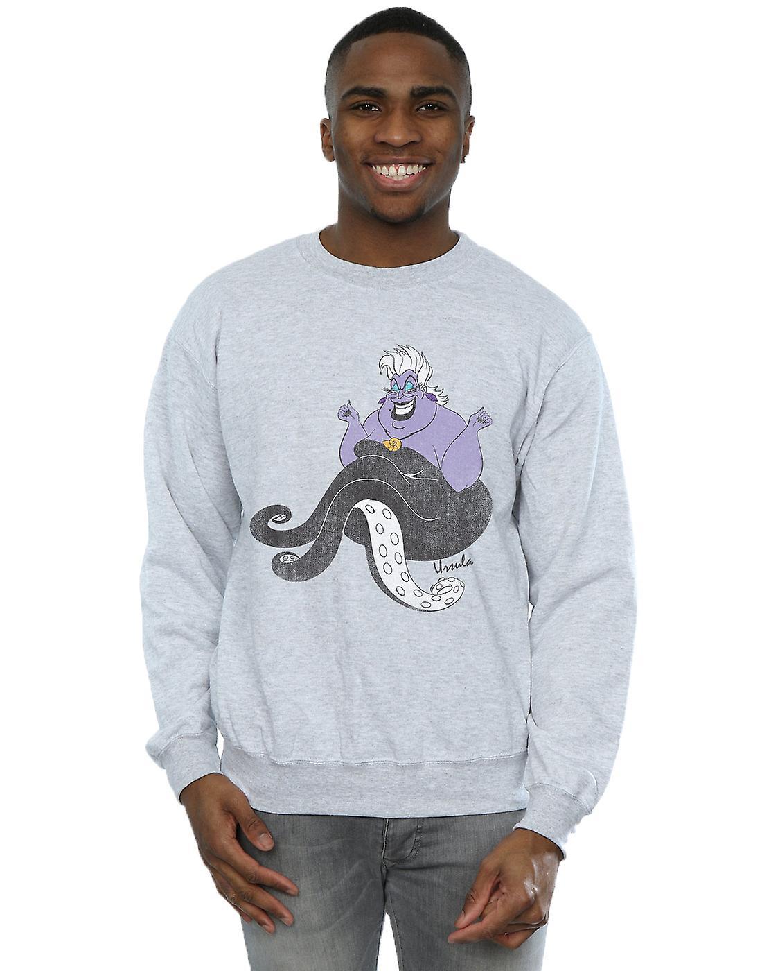 Disney Men&s The Little Mermaid Classic Ursula Sweatshirt