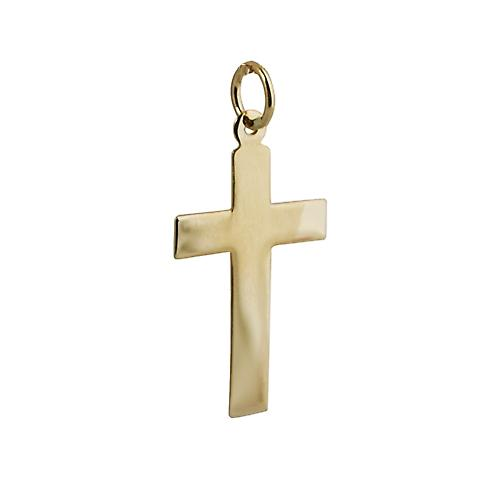 18ct Gold 24x14mm plain flat Latin Cross