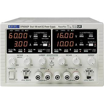 Bench PSU (adjustable voltage) Aim TTi CPX200D 0 - 60 Vdc 0 - 10 A 360 W No. of outputs 2 x