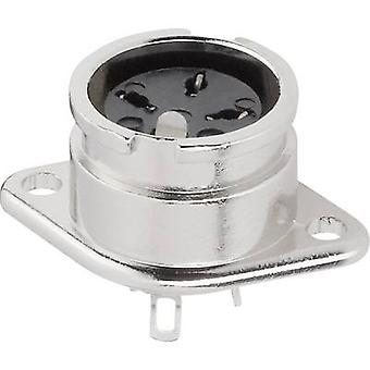 DIN connector Sleeve socket, straight pins Number of pins: 5 Silver BKL Electronic 0202017 1 pc(s)