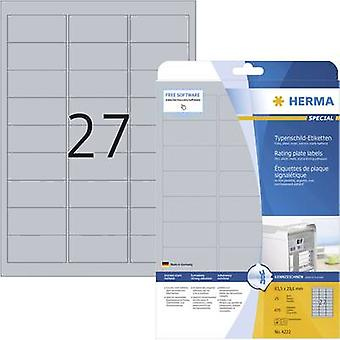 Herma 4222 Labels (A4) 63.5 x 29.6 mm Polyester film
