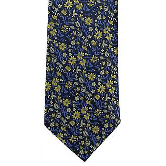 Michelsons of London Mini Floral Polyester Tie - Yellow