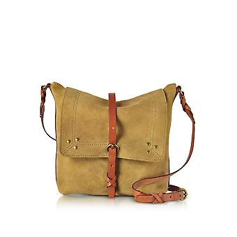 Jerome Dreyfuss ladies TONCHDFSOUFRE yellow suede shoulder bag