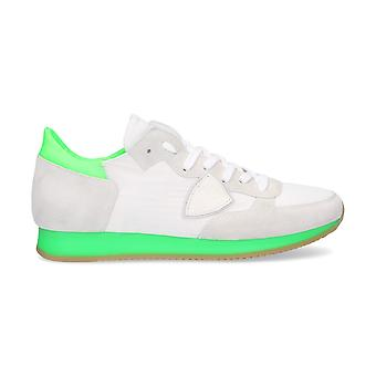 Philippe model men's TRLUNS03 White leather of sneakers