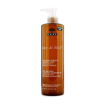 Nuxe Reve De Miel Face & Body Ultra-Rich Cleansing Gel (Dry & Sensitive Skin) 400ml/13.5oz
