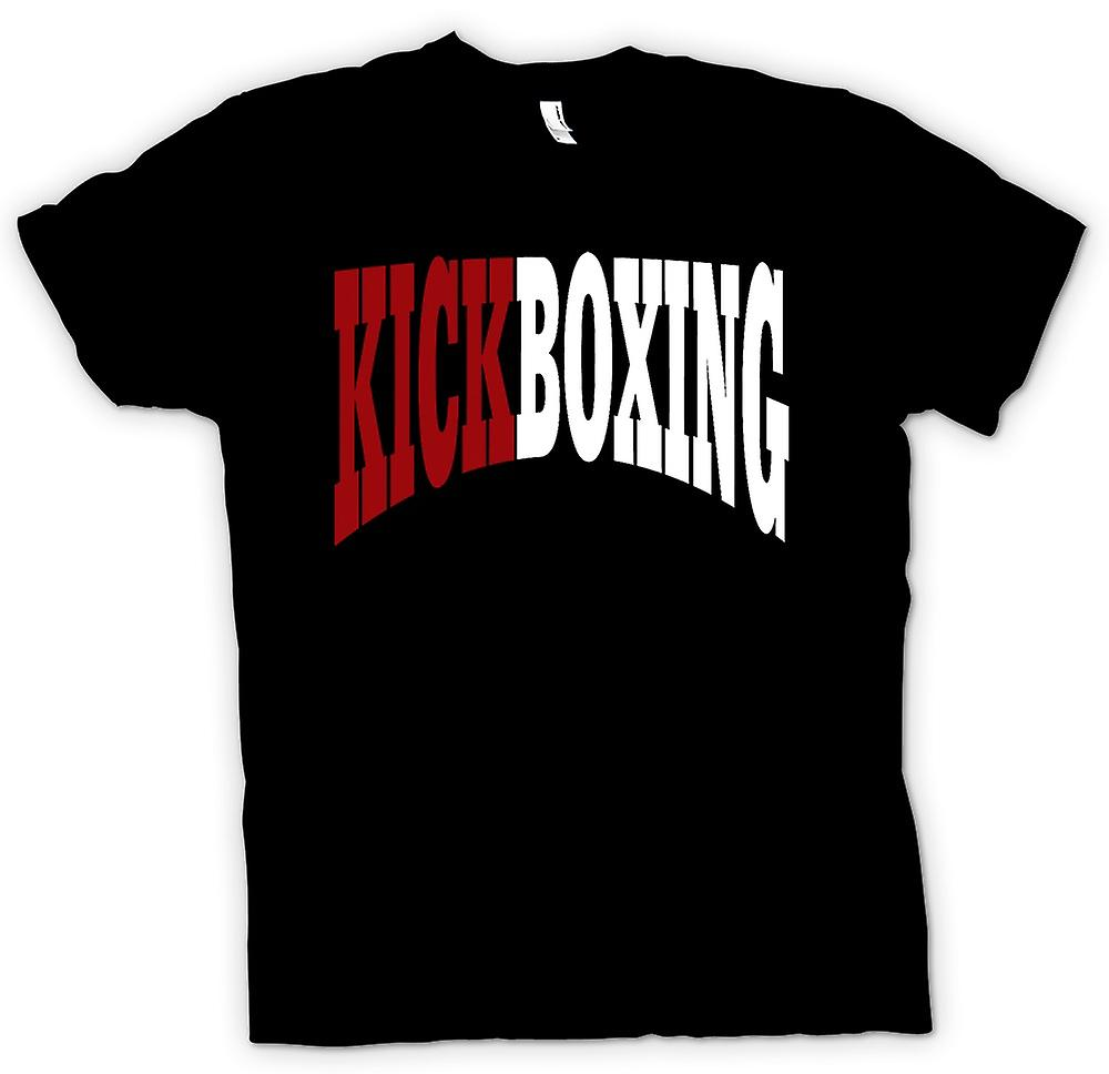 Heren T-shirt-kickboksen - Martial Art - Slogan