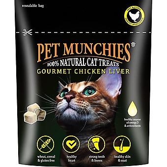 Pet Munchies Cat Treats Gourmet Chicken Liver 10g, pack size 8