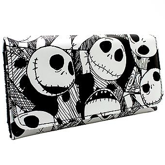 Nightmare Before Christmas Jack Heads Coin & Card Tri-Fold Purse