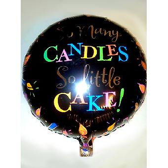 Palloncino foil tante candele così piccola torta di compleanno