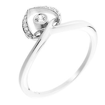 Orphelia Silver 925 Ring Heart  Zirconium   ZR-7126