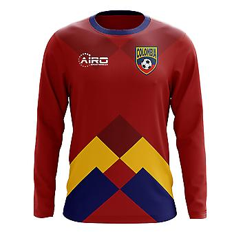 2018-2019 Colombia Long Sleeve Away Concept Football Shirt