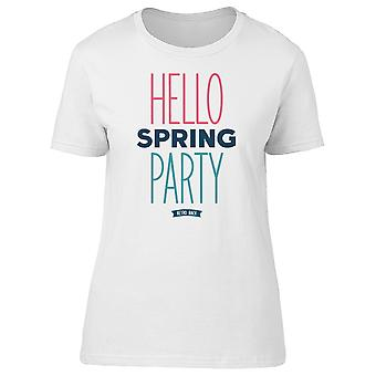 Hello Spring Party Retro Back Tee Women's -Image by Shutterstock