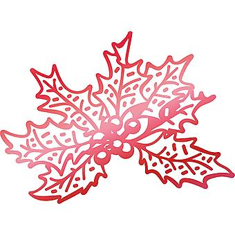 Couture Creations Let Every Day Be Christmas Hotfoil Stamp-Christmas Holly 2.2