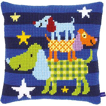 Funny Dogs Cushion Cross Stitch Kit-16
