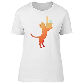 Orange Kitten With Shopping Tee Women's -Image by Shutterstock