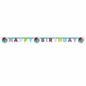 Doc McStuffins Spielzeug Ärztin Party Girlande Banner 1 Stück Kindergeburtstag Mottoparty