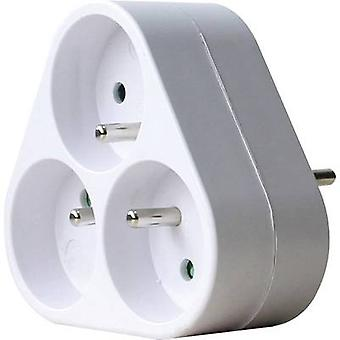 GAO DG-ZFB01/03A 3x Socket splitter White