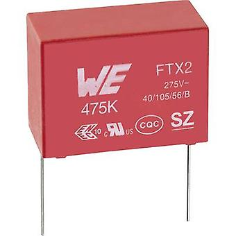 Würth Elektronik WCAP-FTX2 890324023011CS 1 PC (s) X2 suppression condensateur Radial lead 22 nF 275 V AC 10 % 10 mm (L x l x H) 13 x 4,5 x 9,5 mm