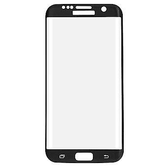 Skärmskydd för Samsung Galaxy S7 edge 3D bepansrade glas film täcker fall svart