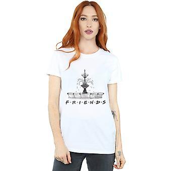 Friends Women's Fountain Sketch Boyfriend Fit T-Shirt
