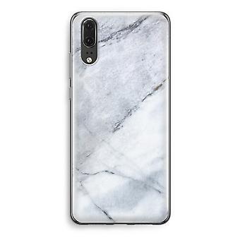 Huawei P20 Transparent Case - Marble white