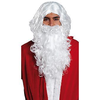 Weihnachtsmann-Set Perücke