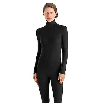 Hanro Ladies Ski Unterwäsche Wolle & Seide Turtleneck Black