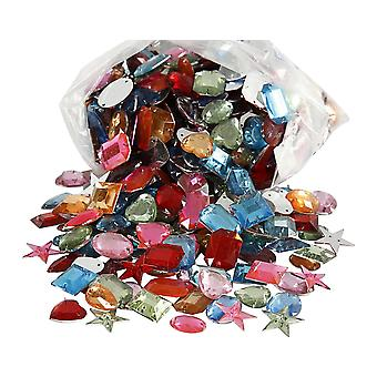 Assorted Bulk Sew-On Rhinestone Jewels for Crafts - 800pk