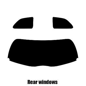 Pre gesneden venster tint - Toyota Yaris 3-deurs Hatchback - 2007 tot en met 2010 - achterzijde windows