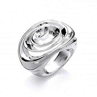 Cavendish franske sølv Spiral Ring