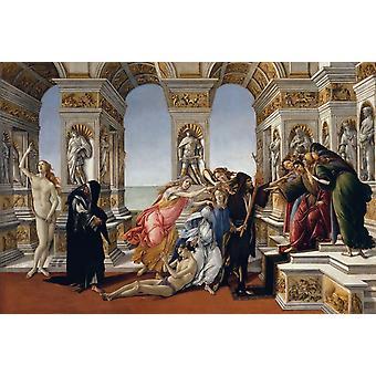 Calumny, Sandro Botticelli, 40x60cm with tray