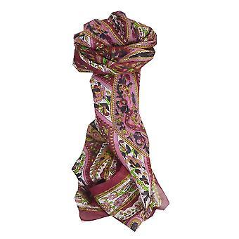 Mulberry tradisjonelle lang silkeskjerf Yola vin Pashmina & Silk