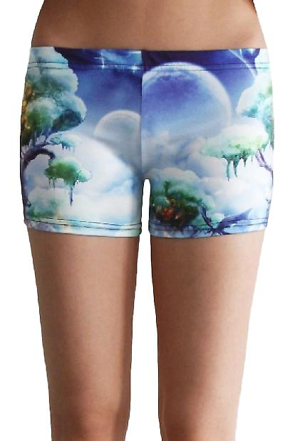 Waooh - Fashion - Shorty printed trees and clouds