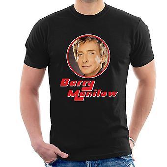 Barry Manilow Retro Foto Frame Herren T-Shirt