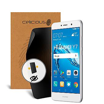 Celicious Privacy 2-Way Anti-Spy Filter Screen Protector Film Compatible with Huawei Y7 (2017)