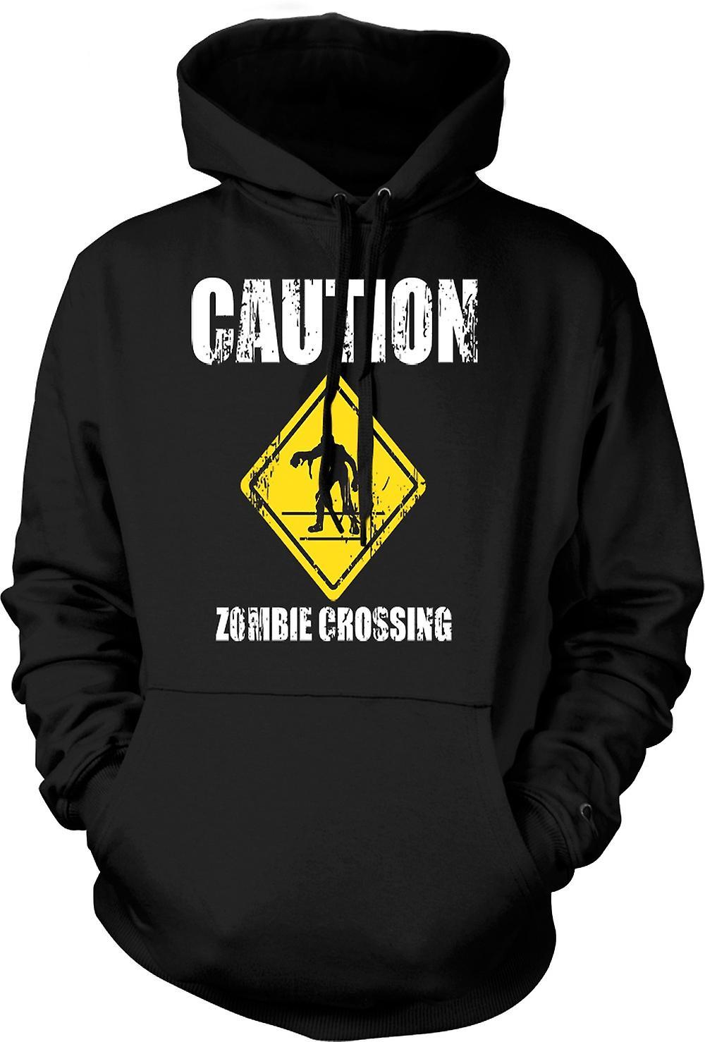 Kids Hoodie - Zombie Crossing - Funny - Horror