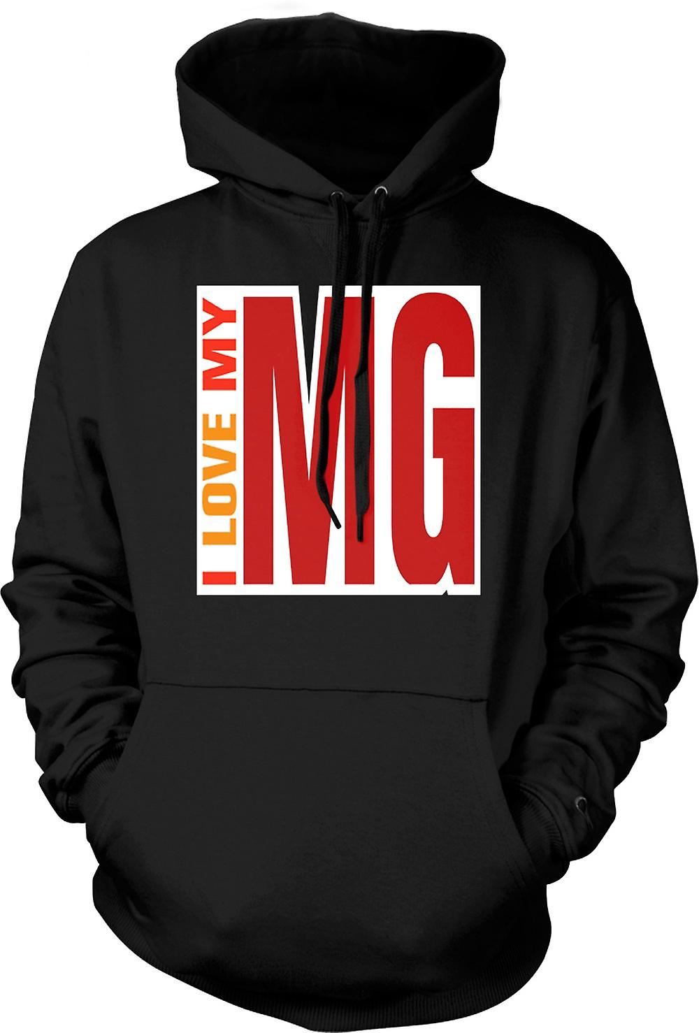 Mens Hoodie - I Love My MG - Car Enthusiast