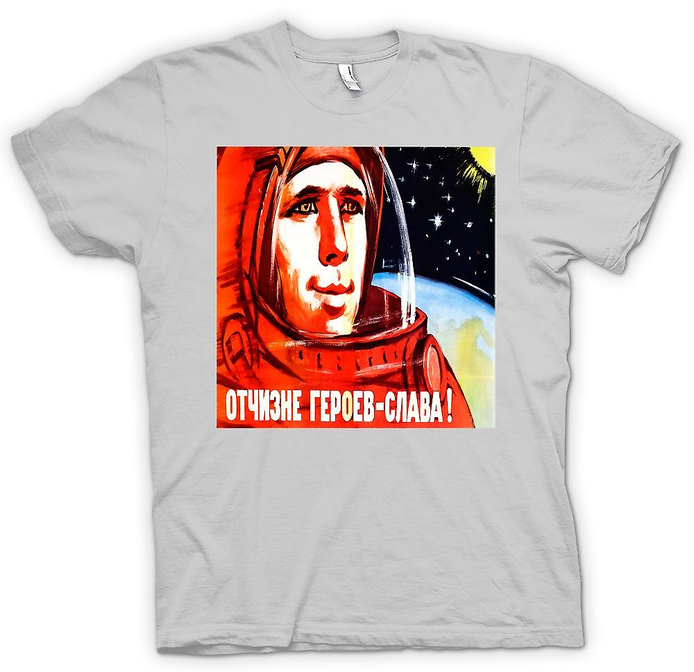 Herr T-shirt - Yuri Gagarin - rysk kosmonaut