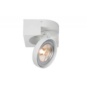 Lucide Versum Ar111 Modern Square Aluminum White Ceiling Spot Light