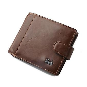 GENUINE Leather Wallet Mens Brown Money Purse ID Holder
