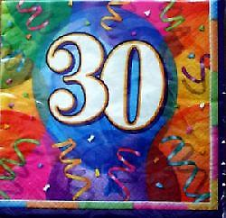 30th Birthday Jubilee Party Napkins Contains 16 three-ply Napkins .