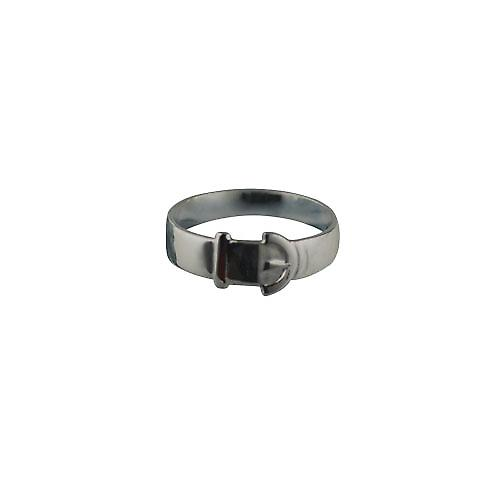 Sliver 6mm gents plain Buckle Ring Size T