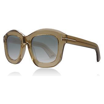 00c784cb895 Tom Ford FT0582 45P brillant Light Brown Julia place catégorie 2 lunettes  de soleil-lentille