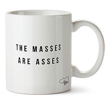 Hippowarehouse as massas são bundas 10 onças caneca Cup