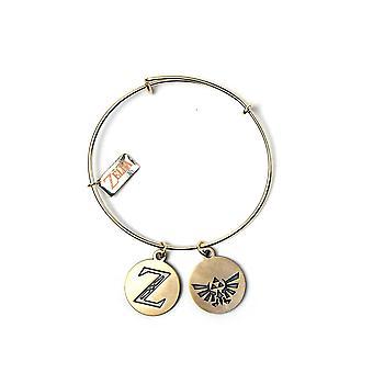 La leggenda di Zelda Bracciale con ciondolo oro, da zinco, in confezione regalo.