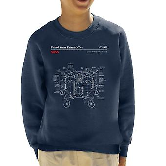 NASA Mondfähre Abstieg Bühne Blueprint Kid Sweatshirt