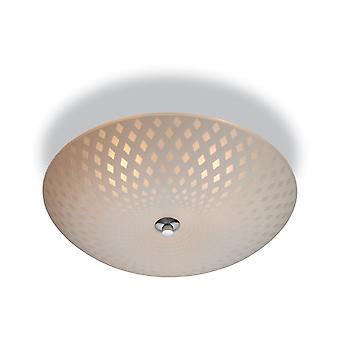 Firstlight-3 luz semi Flush plafón vidrio opal, patrón decorativo-8316