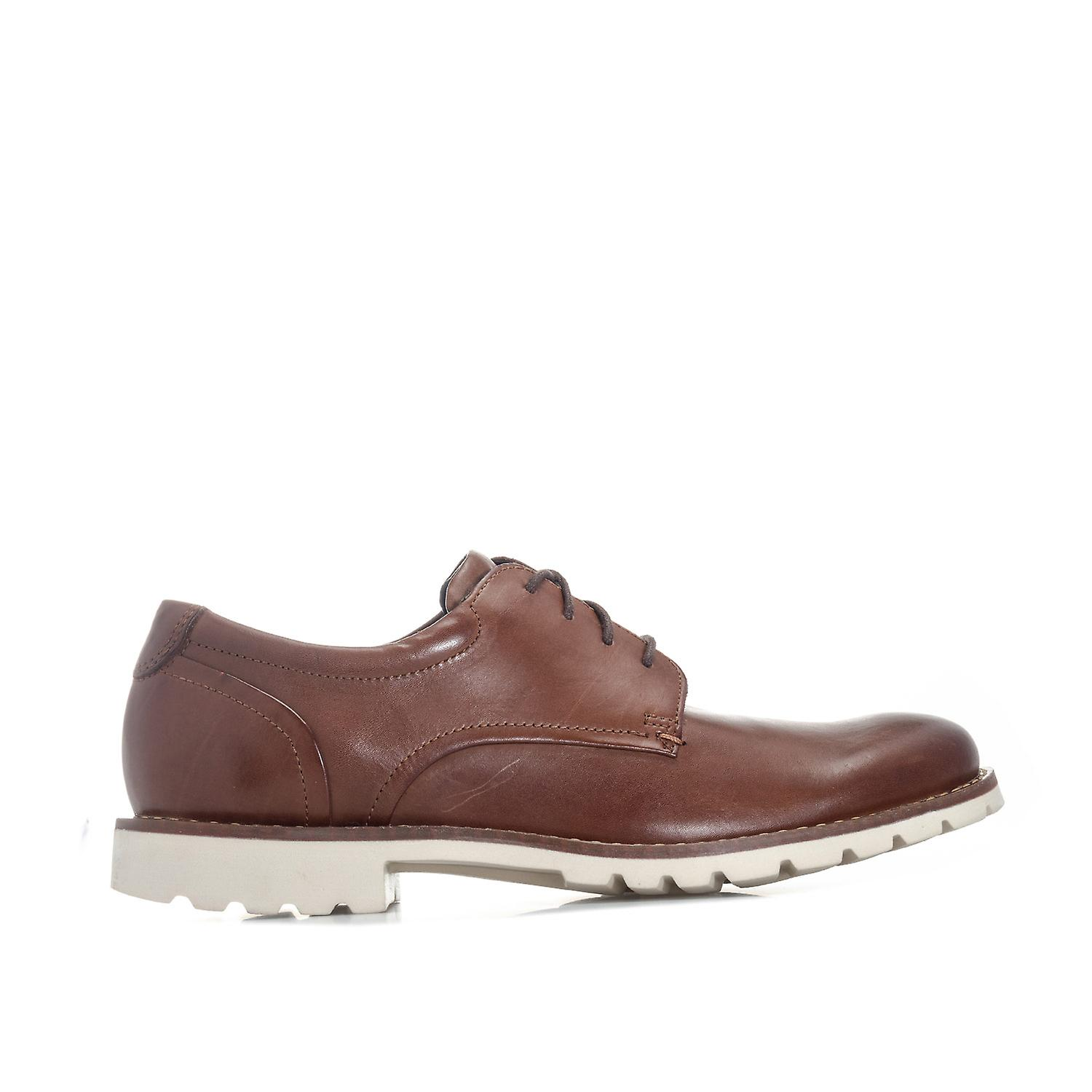 Mens Rockport Sharp & Ready Plain Toe chaussures In marron- Lace Fastening- Round Toe-