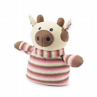 Knitted Animal Warmer Microwavable Toy: Cow